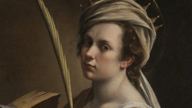 Artemisia Gentileschi Self Portrait as Saint Catherine of Alexandria, about 1615-17 (Image: The National Gallery, London)