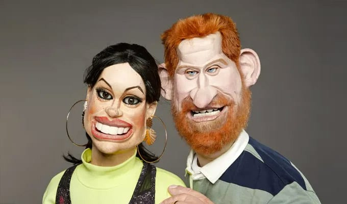 The Duke and Duchess of Sussex in puppet form for the new series of Spitting Image (Photo: Avalon / Mark Harrison)