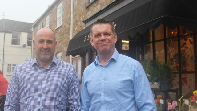 Robbie Wilson (left) and John Dowding bought a commercial property together