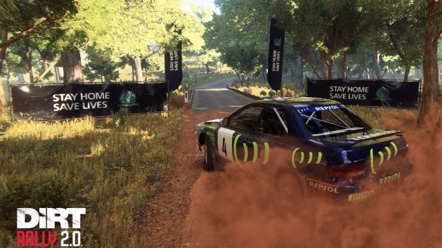 'Stay Home, Save Lives' posters will appearing in racing game DiRT Rally 2 (Photo: Codemasters)