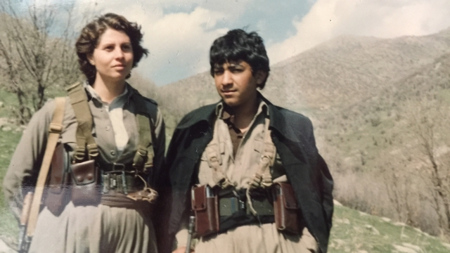 Article thumbnail: Diana Nammi in the mountains of Iranian Kurdistan in the 1980s