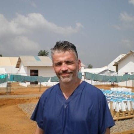 David Anderson helped with the West Africa Ebola epidemic in 2014-2015.