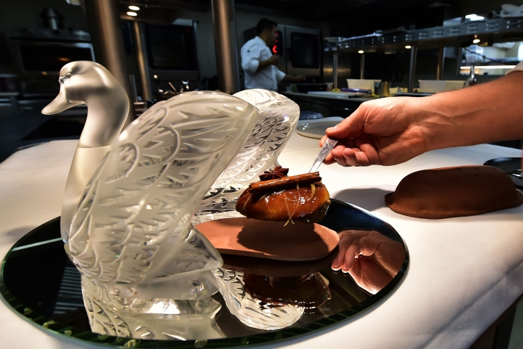 A foie gras dish from Lalique restaurant at Chateau Lafaurie-Peyraguey in Bommes near Sauternes, France, where the dish remains legal (Photo: AFP)