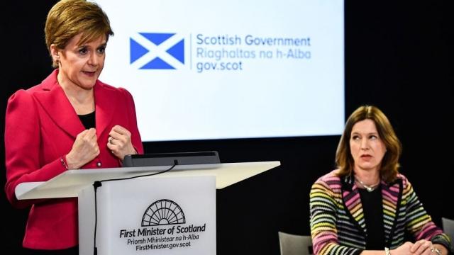 Nicola Sturgeona dn Dr Catherine Calderwood have been appearing regularly at coronavirus briefings (Photo: Getty)