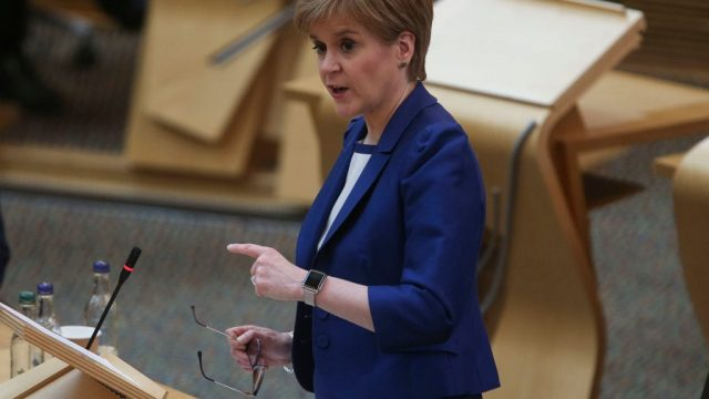 The news came as Nicola Sturgeon announced the number of coronavirus deaths in Scotland has risen to 76