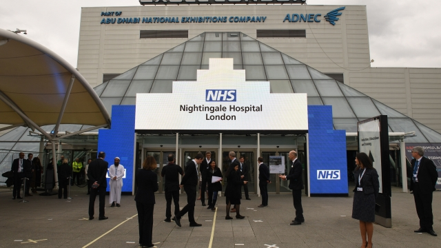 The first patients were admitted on Tuesday evening to the Nightingale Hospital in London