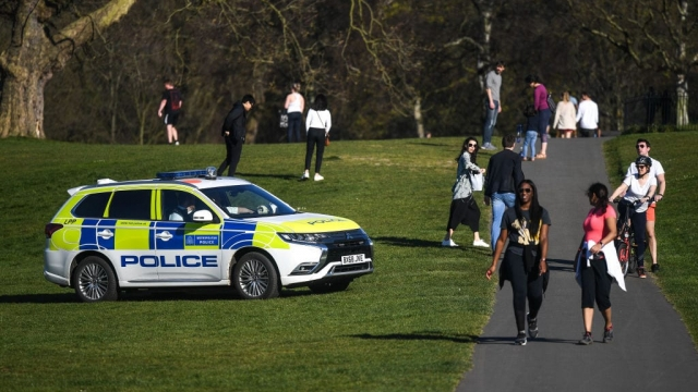 A police car is seen patrolling Greenwich Park, London (Photo by Peter Summers/Getty Images)