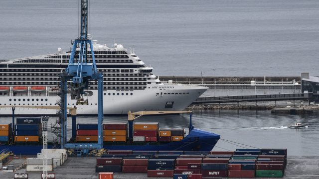 The cruise ship Magnifica is docked at the port of Marseille, southern France (Photo: Getty)