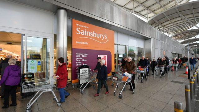 Article thumbnail: Supermarkets across the UK have been enforcing social distancing measures (Photo: Getty)