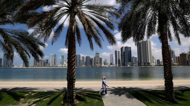 Empty beaches in the UAE after travel restrictions have been imposed by governments around the world (photo: Getty Images)