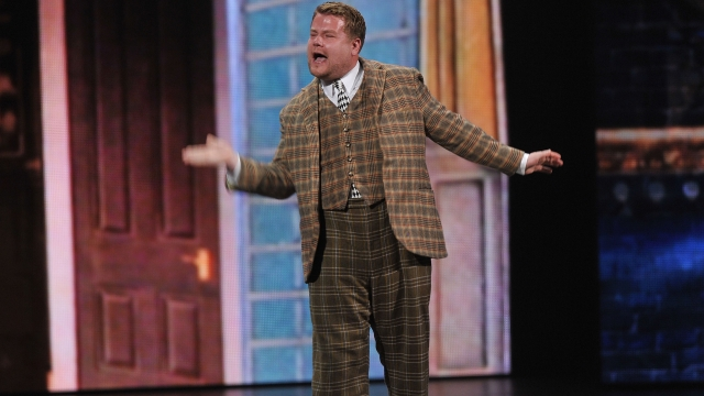 """James Corden performs from """"One Man Two Two Guvnors"""" onstage at the 66th Annual Tony Awards at The Beacon Theatre"""