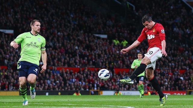 Robin van Persie scores a spectacular volley