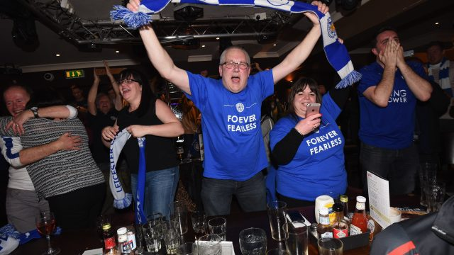 Article thumbnail: Leicester City fans