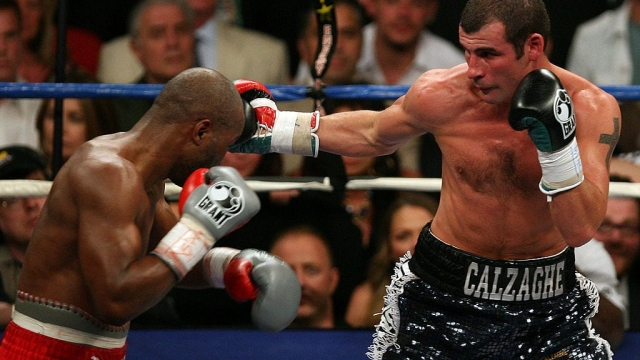 On This Day Joe Calzaghe Beat Bernard Hopkins In Front Of Whitney Houston Sylvester Stallone And Simon Cowell