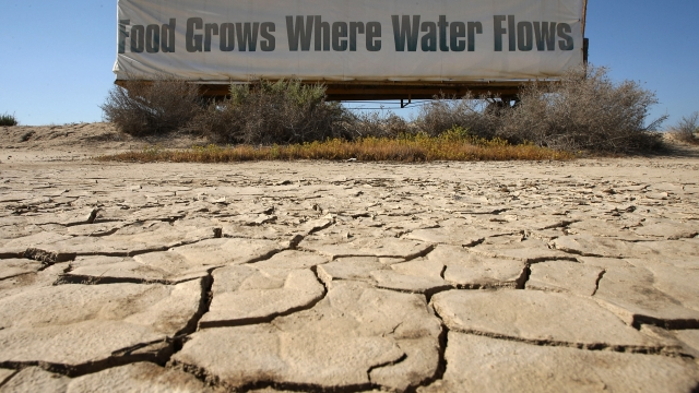 The drought covers an area stretching across nine US states from Oregon and Montana down through California and New Mexico, and part of northern Mexico