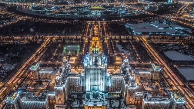 Article thumbnail: An aerial view of Moscow