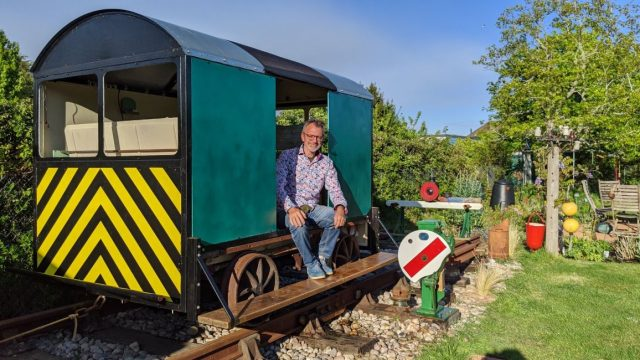 Train enthusiast Adrian Backshall spent around £1,000 on the project (Photo: Adrian Backshall)