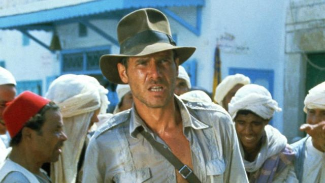 Harrison Ford stars as Indiana Jones in Raiders of the Lost Ark