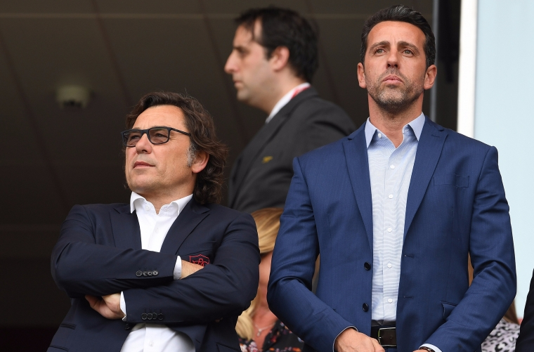 Raul Sanllehi (left) has departed the club (Photo: Getty)
