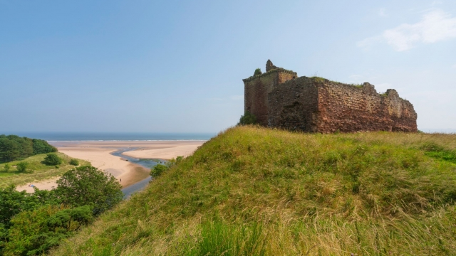The ruins of Red Castle overlooking Lunan Bay (photo: Visit Scotland)
