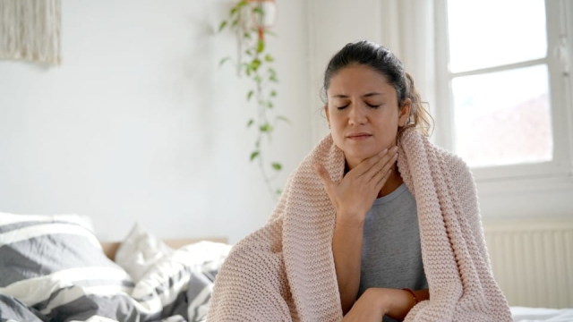 A sore throat can be a sign of a coronavirus infection, according to the World Health Organisation (Photo: Shutterstock)