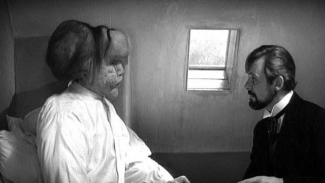 Article thumbnail: John Hurt (left) as Joseph Merrick and Anthony Hopkins as Frederick Treves in 'The Elephant Man'