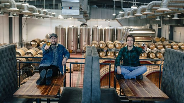 James Watt (left, with co-founder Martin Dickie) says he won't take a salary this year as the brewer deals with lockdown and its aftermath (Photo: BrewDog)