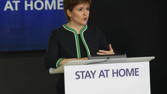 Nicola Sturgeon said she would reach a 'different conclusion' on hospital discharges now, but only thanks to hindsight (Photo: Scottish Government)