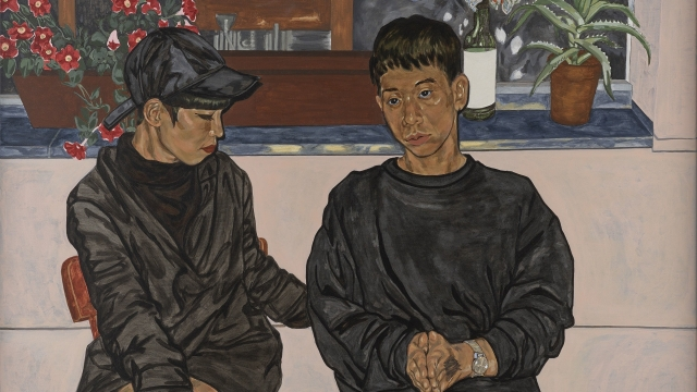 Article thumbnail: Night Talk by Jiab Prachakul, which won first prize at the BP National Portrait awards