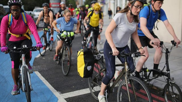 Compared with those who drove, those who cycled to work had a 20 per cent reduced rate of early death