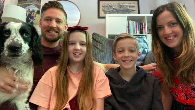 Hester Grainger, her husband Kelly and their two children