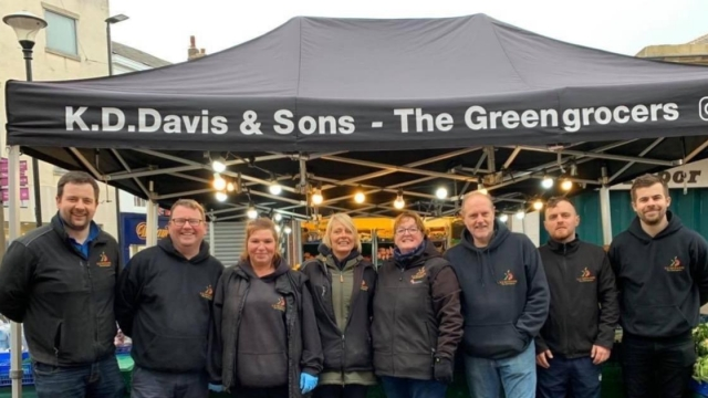 Ryan Davis, on the far left, and his team with family greengrocer KD Davis & Sons (Photo: Ryan Davis)