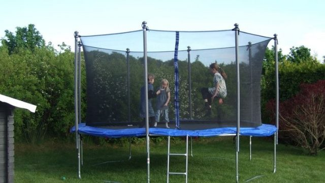 Article thumbnail: Sales of trampolines jumped as parents and carers prepared for lockdown (Photo: Pixabay)