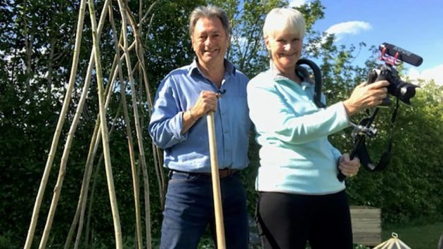 Alan Titchmarsh with his wife (and camerawoman) Alison