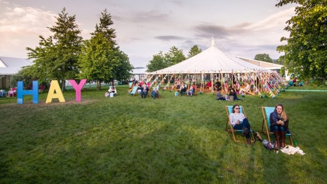 Pegged back: there will be no tents at Hay Festival Digital but the line-up is impressive as ever (Photo: Adam Tatton-Reid)