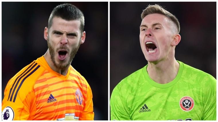 David de Gea (left) faces stiff competition with Dean Henderson's return to Man Utd (Photos: Getty)