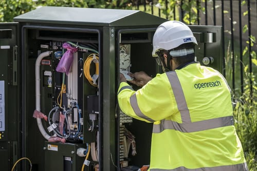 Openreach engineers have been abused on 60 occassions in just six weeks, the company has confirmed (Photo: Openreach)