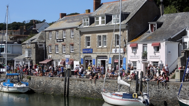 Article thumbnail: The pretty harbour in Padstow, Cornwall, is usually very popular with tourists